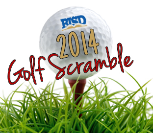 Golf Scramble with golf ball and tee