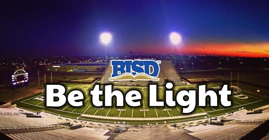 Be the Light - football field with lights on