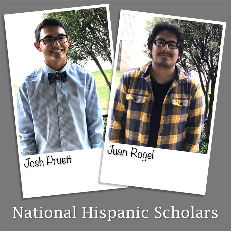 Pictures of Josh Pruett and Juan Rogel National Hispanic Scholars