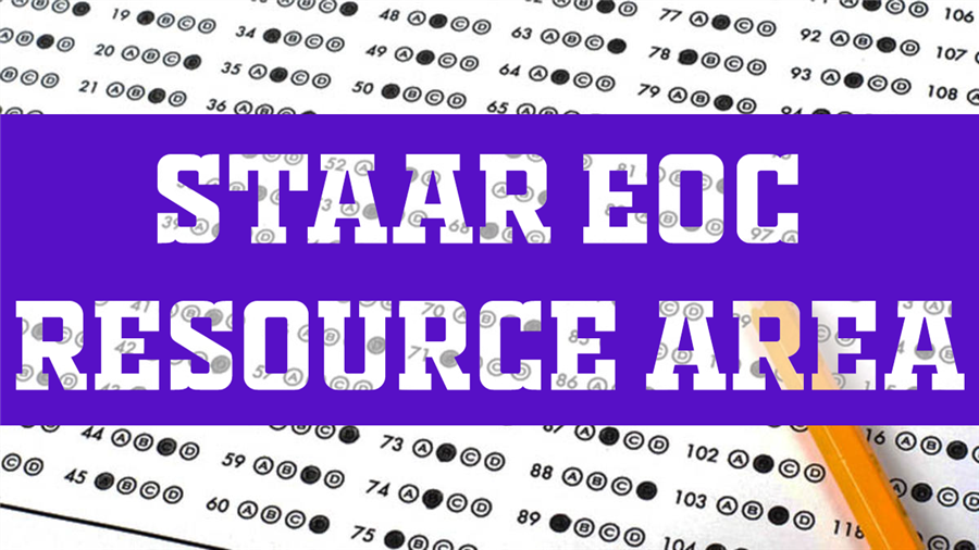 Staar EOC Resource Area