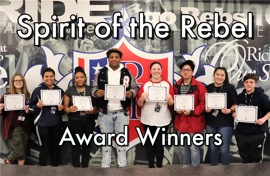 Spirit of the Rebel Award Winners