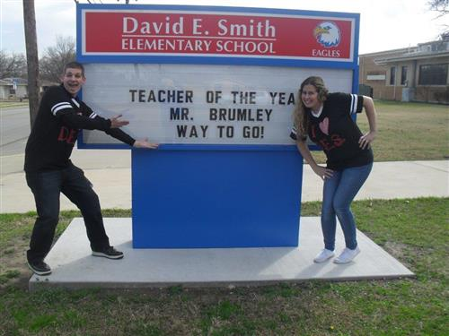 DES Teacher of the Year, Brandon Brumley