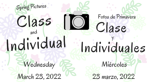 W. T. Francisco Picture Day and Retakes online Students Wednesday, November 18, 2020