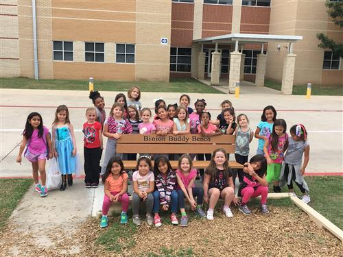 Binion Girl Scout Troop 3356 Buddy Bench