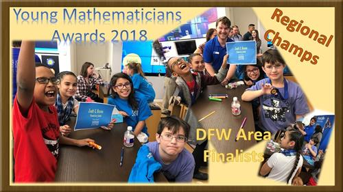 Young Mathematicians Awards 2018 Regional Champs DFW area Finalists