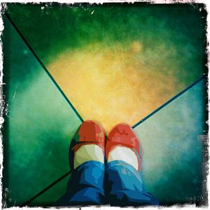 Red Slippers by Bonni