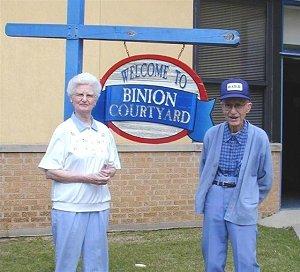 Mrs. Gloria Binion and Mr. Jack C. Binion