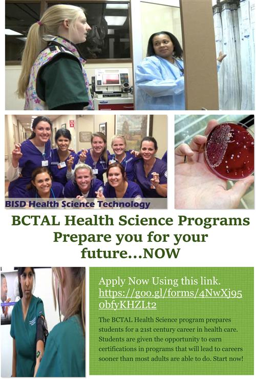BCTAl health Science Classes