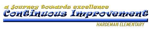 CI - Journey toward excellent Continuous Improvement Hardeman Elementary