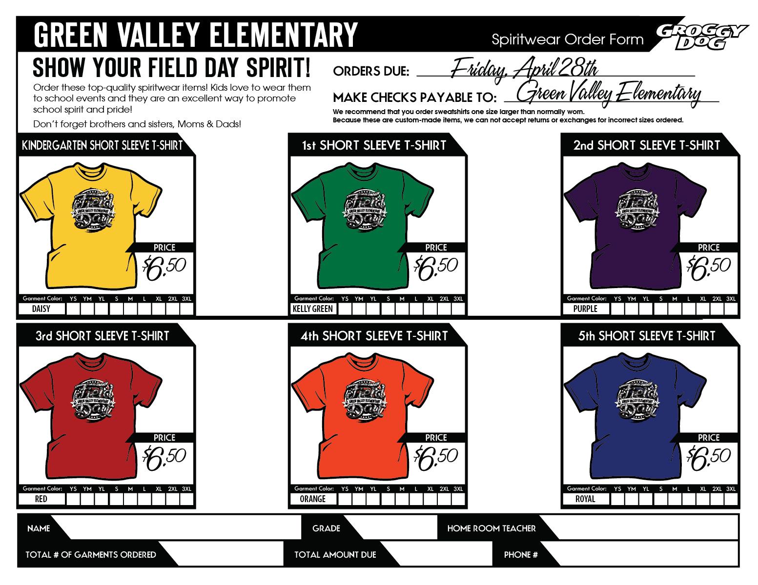Criswell Kristi PE TShirt Order Form – Shirt Order Form