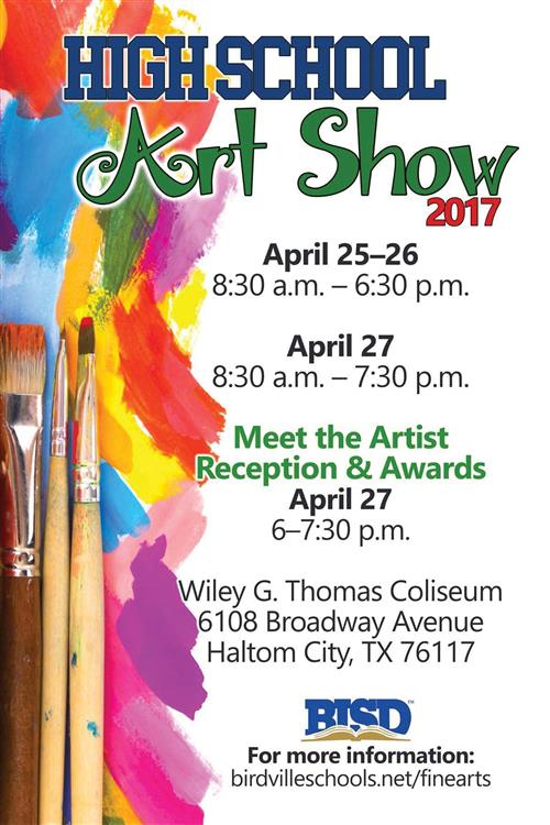 BISD HS Art Show Runs April 25-27 at W.G. Thomas Coliseum
