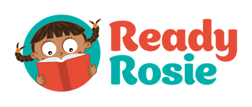 Ready Rosie logo with a little girl reading a book