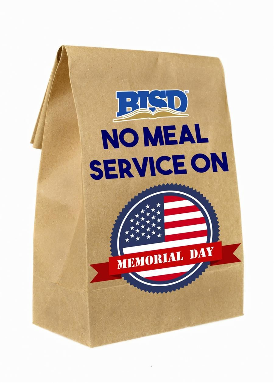 No Meal Service on Memorial Day
