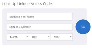 Look Up Unique Access Code on Texas Assessment Portal