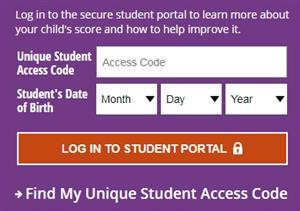 Unique Student Access Code Log In to Student Portal