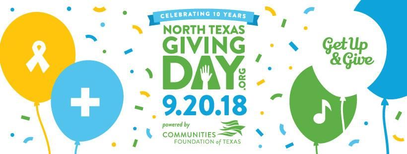 North TX Giving Day | Sept 20 | Get Up and Give