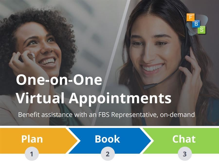 One-on-One Virtual Appointments. Plan, Book and Chat 1-2-3