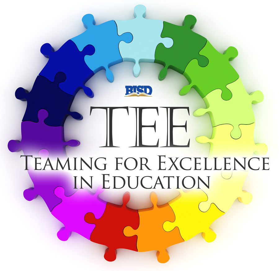 TEE (Teaming for Excellence in Ed) logo