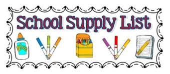 SCHOOL SUPPLY LISTS FOR 2017-18