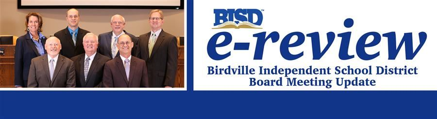 e-review Birdville Independent School District Board Meeting Update Header