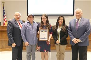 Eddie Suarez of the El Chico Café in Richland Hills was recognized for his support of Richland Middle School.