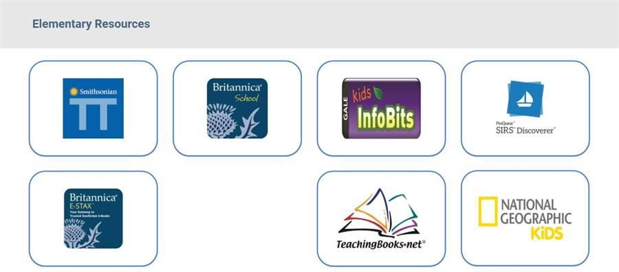 Graphic of Elementary Library Resources