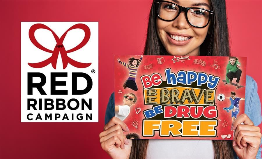 Red Ribbon Campaign | Be happy, Be brave, Be drug free