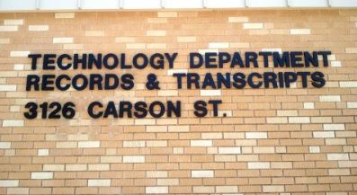 Technology Department Records & Transcripts 3126 Carson St.