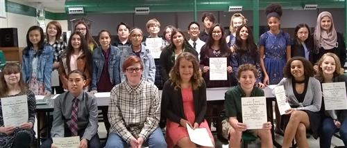 Our NJHS Inductees for 2017-18!