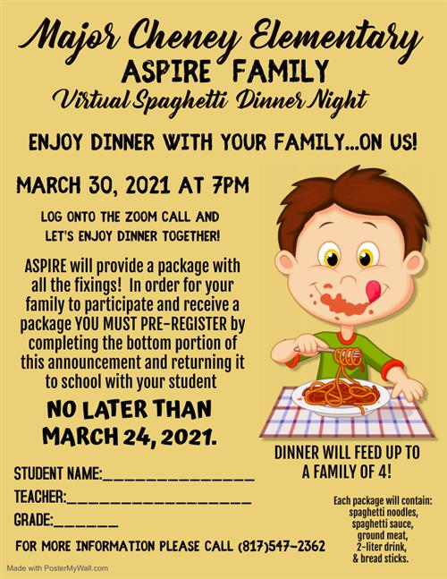Virtual Family Dinner Night
