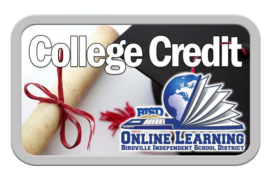 college credit online learning button