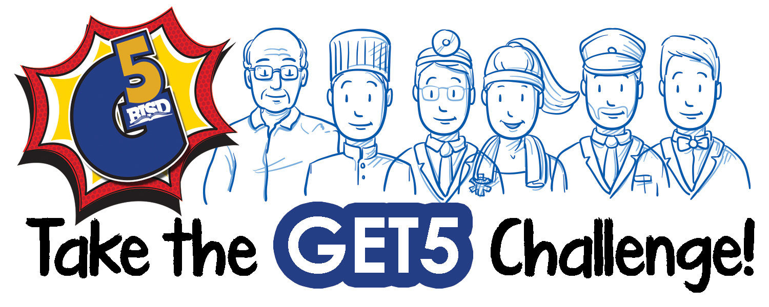 Take the GET5 Challenge logo