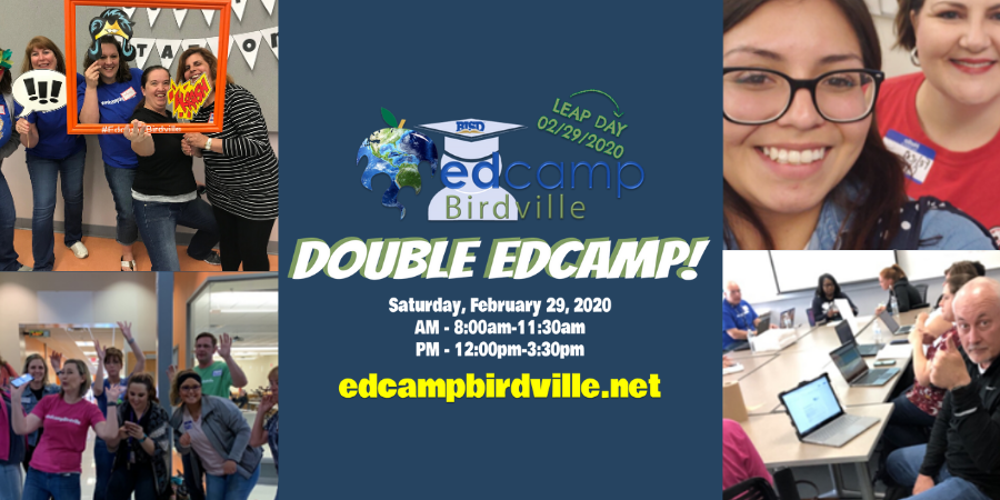 Double Edcamp with pics of teachers