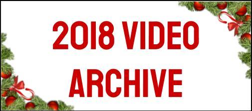 2018 Video Archive