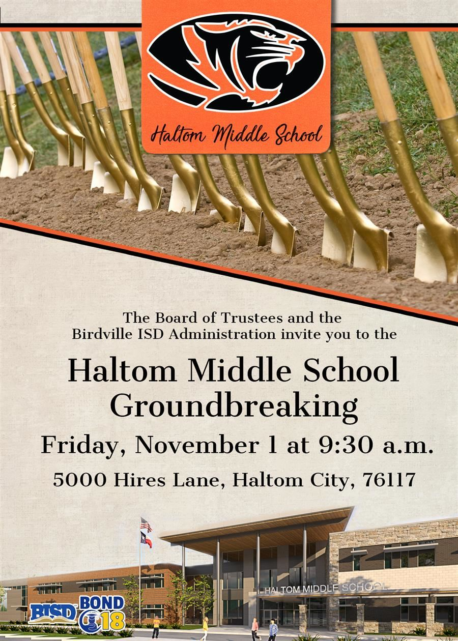 Haltom Middle School - Save the Date