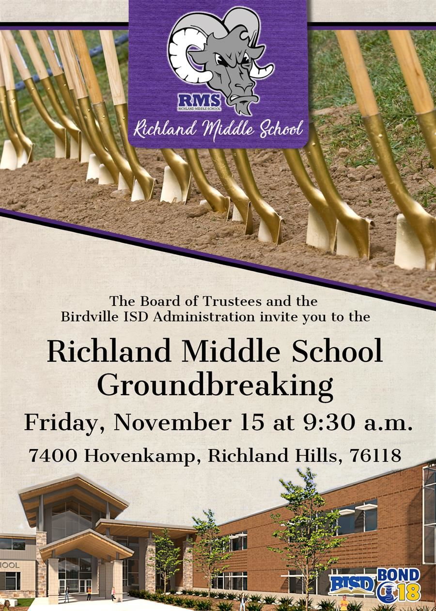 Richland Middle School Groundbreaking