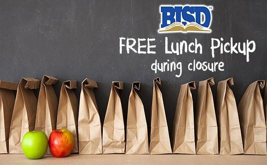 Free lunch pickup during closure