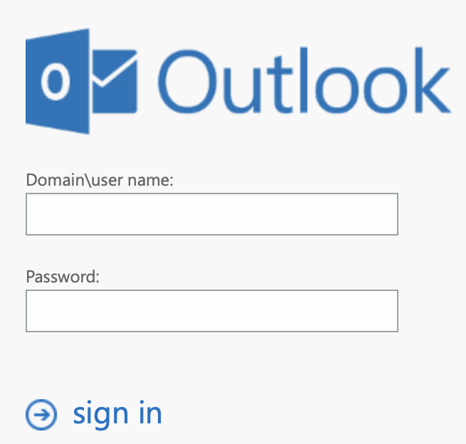 outlook screen view