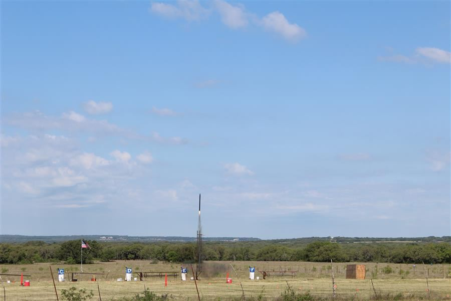 BISD Rocket Engineering Students Launching their rockets in Fredricksburg, TX
