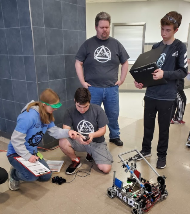 Haltom Robotics Students competing