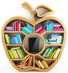 apple with books - decorative image