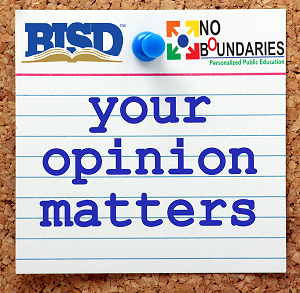 Your Opinion Matters note