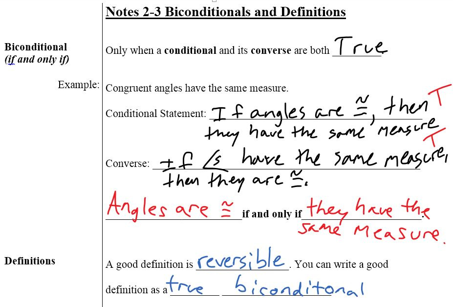 Worksheet 2 2 conditional statements pap answers