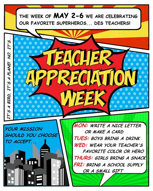 Teacher Appreciation Week May 2-6