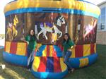 teens and bounce house