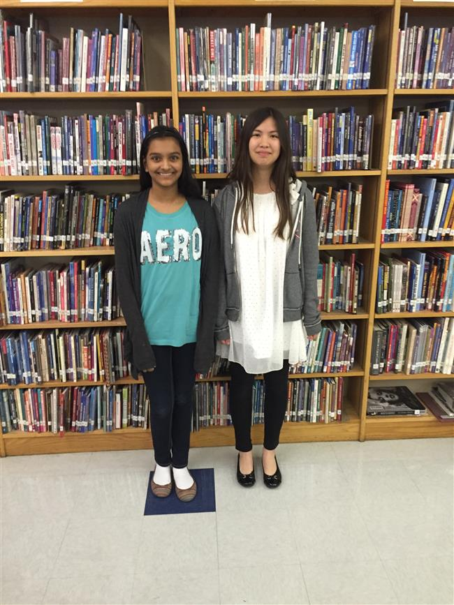 Hasfea Syed(Left) Congratulations to 2nd Place Winner Marina Sorola