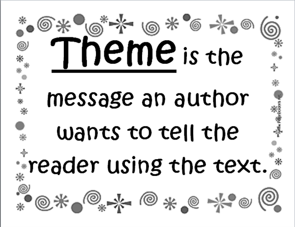 book report theme definition